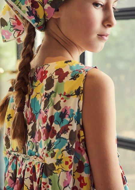 kids Caramel Dress - Painted Flower