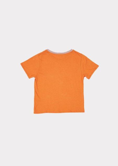 kids Caramel Shark T-Shirt - Orange