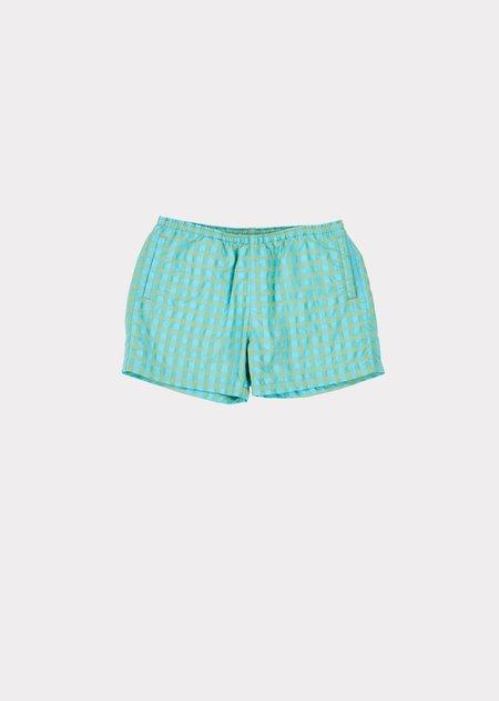 kids Caramel Swimshort - Mint/Aqua Stripe