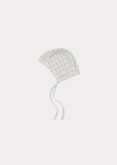 kids Caramel Trumpetfish Gifting Bonnet hat - Blue Geo Print