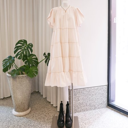 Merlette Alegre Tiered Dress - Light Pink