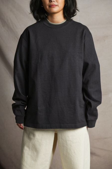 Lady White Co. L/S Rugby Tee - Tire Black