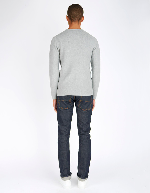 Minimum Men's Reiswood Sweater Light Grey Melange