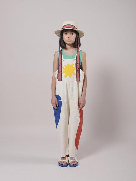 kids Bobo Choses Landscape Dungaree jumpsuit - Custard