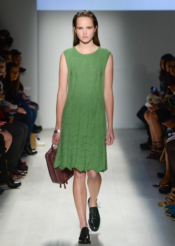 Malorie Urbanovitch Hand Knit Pleat Dress