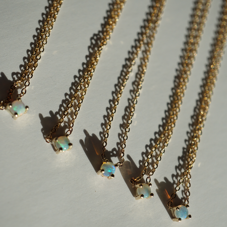 JoeLuc Delicate Opal Gold Chain