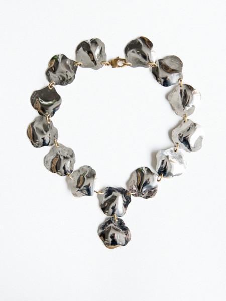 Michelle Ross Lyla Necklace - Silver