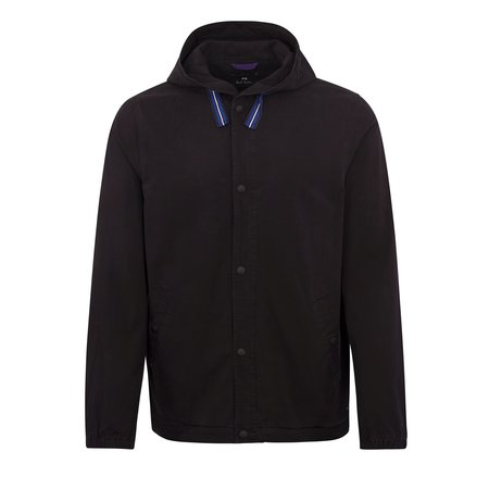 PAUL SMITH Cotton Hooded Jacket - Black
