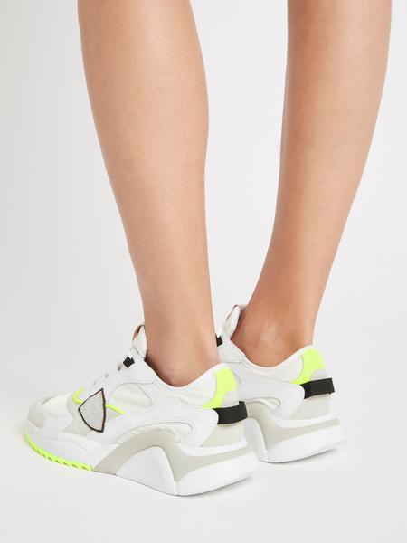Philippe Model Eze Sneaker - Mondial Neon Blanc Juane
