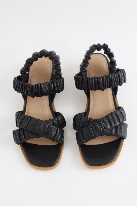 Beklina Gathered Sandal - Black