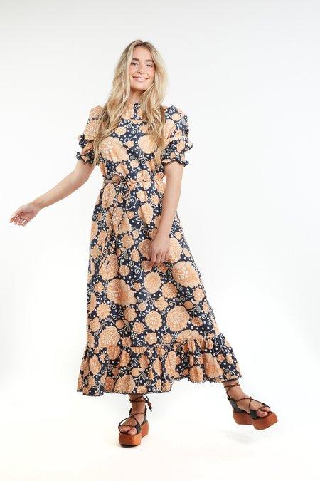 THE ODELLS Maribelle Dress - INDIGO MULTI