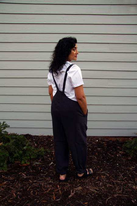 Black Crane Sack Overall - Faded Black