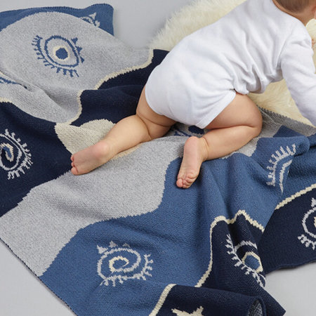 kids moon babe blankets All Eyes Blanket - Night