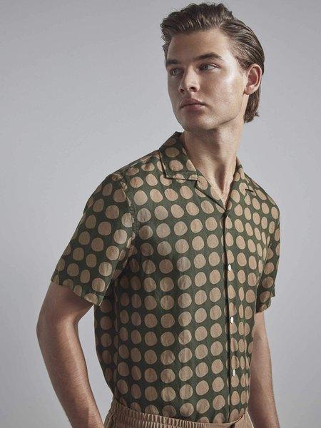NN07 Miyagi Linen Shirt - Army