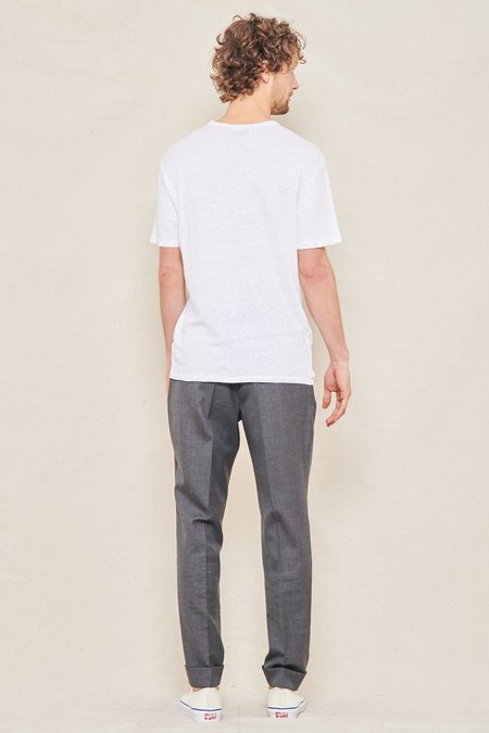 Officine Generale Piece Dyed Linen Tee - White