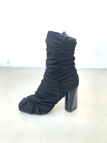 Roberto Cavalli Draped Design Peep Toe Boots