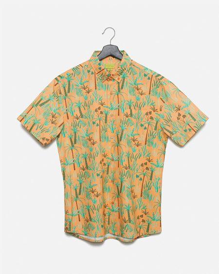 Poplin & Co. Desert Plants Button Down Short Sleeve Shirt