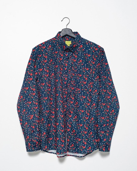Poplin & Co. Casual Button Down Long Sleeve Shirt - Floral Forest