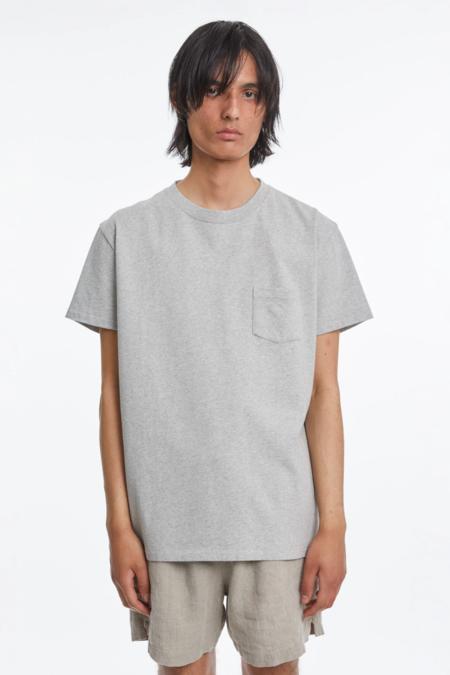 Schnayderman's T-shirt Jersey - Melange Grey
