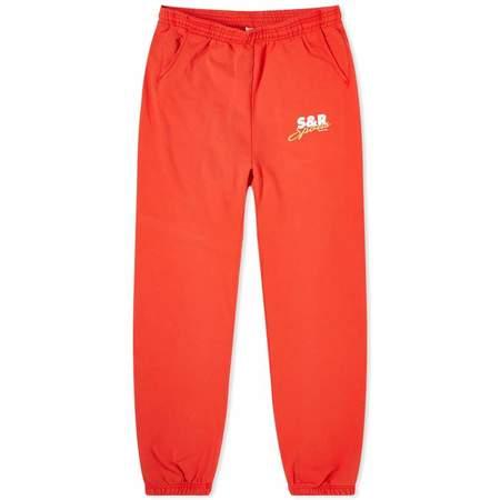 Sporty & Rich S&R Sports Sweatpants - Cherry