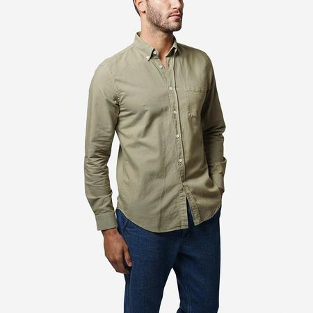 Portuguese Flannel Belavista Lightweight Oxford Long-Sleeve Shirt - Light Olive
