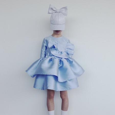 kids Caroline Bosmans Child Gloss Satin Dress