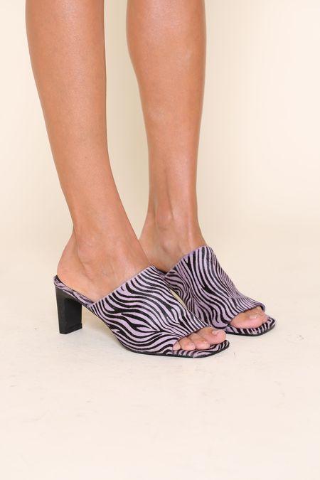 """INTENTIONALLY __________."" Trix sandals - Lilac Zebra"