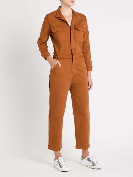 Mother Denim The Fixer Jumpsuit - Tan