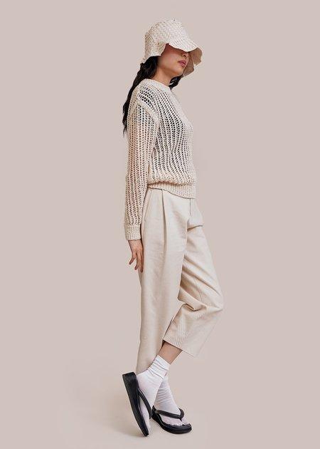 AMOMENTO Crochet Pullover - Ivory