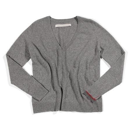 Raquel Allegra Deep V Pullover - Heather Grey