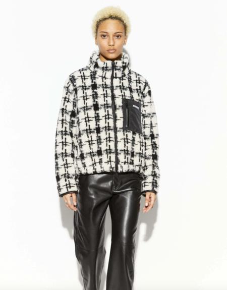 APPARIS Kayla ZipUp jacket - Noir/Ivory