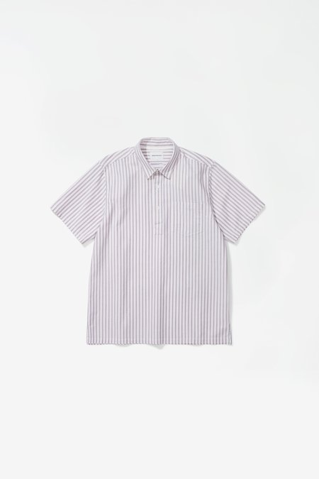Norse Projects Oscar oxford SS top - navy multi stripe