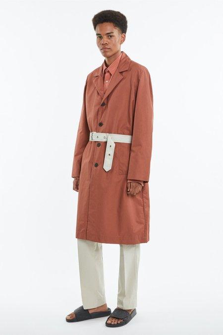 Schnayderman's Belted overcoat - brick red
