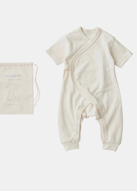 kids Fog Work Baby Jump Suit - Linen