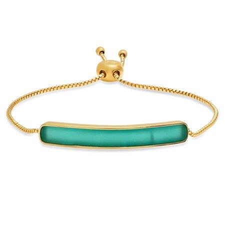 tai Enamel Bar Adjustable Bracelet - Gold