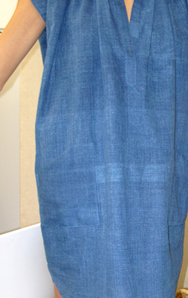 Two New York Indigo Pocket Tunic