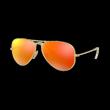 Ray-Ban Aviator Large Metal Matte Arista 0RB3025-112/4D eyewear - Orange/Gold