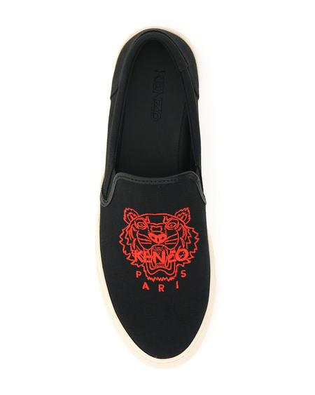 Kenzo K-skate Slip On Sneakers - Black