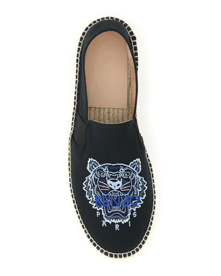 Kenzo Logo Tiger Espadrilles shoes - Black