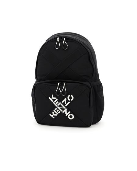 Kenzo Cross Logo Nylon Backpack - Black