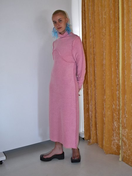 NOONS x Fran Sews Co Feeling Shag Sweater Dress - Pink