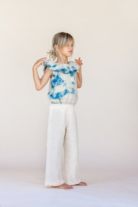 kids The New Society Ruffle Blouse - color tie dye