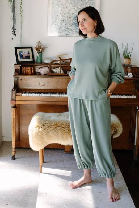 Rachel Pally Hemp Sweater Rib Tova Sweatshirt - Coriander