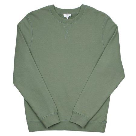 Sunspel Loopback Sweatshirt - Light Khaki