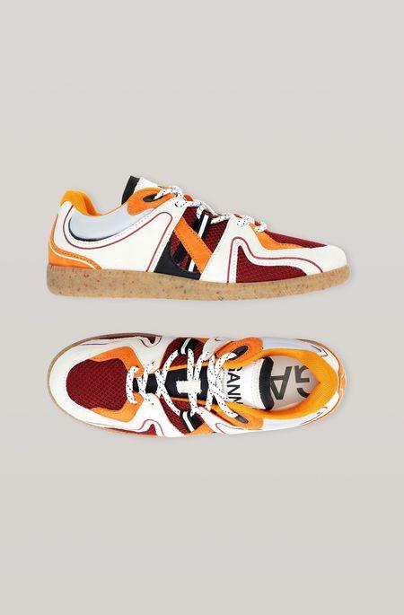 Ganni Sporty Mix Sneakers - Egret
