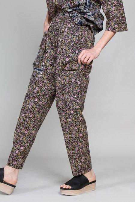 Raquel Allegra Cargo Pant - Black Floral