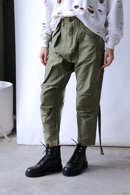 R13 Harem Cargo Pant - Olive