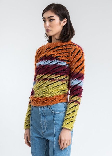 Y/project Striped Loop Knit Pullover