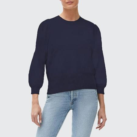Michael Stars Dolly Puff Sleeve Crop Sweater - ADMIRAL