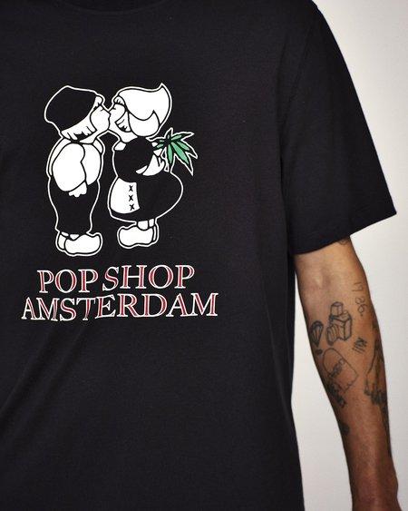 Pop Trading Company Amsterdam T-Shirt - Black